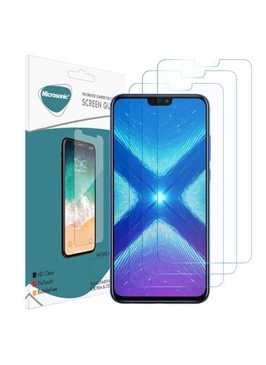 Microsonic Huawei Honor 8X Ekran Koruyucu Nano Cam (3'lü Paket) Renksiz